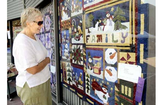 Picture of my quilt displayed during the Quilt and Classic Car show, published in the Ladner Optimist
